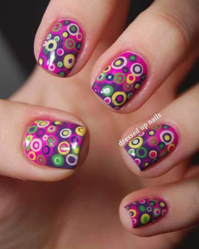 дизайн ногтей точками дотс пузырьки