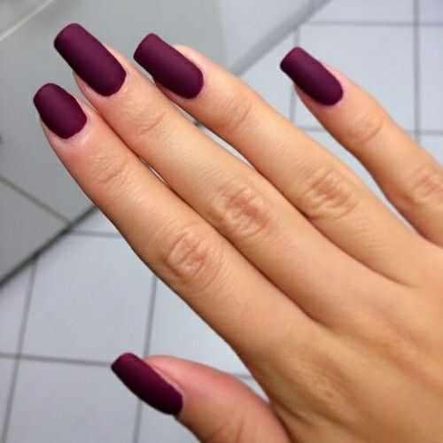 дизайн ногтей цвета бордо акрилл