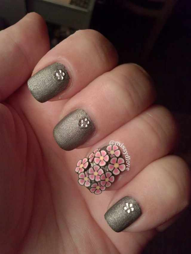 дизайн ногтей с фимо розовый nail design Fruit