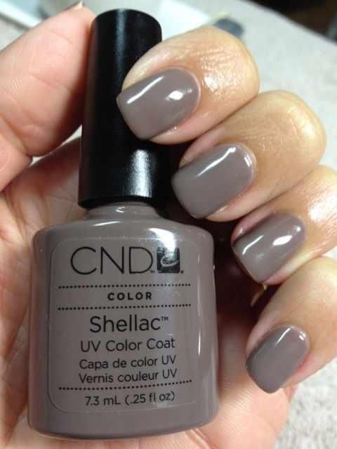 CND schellac дизайн коричневый