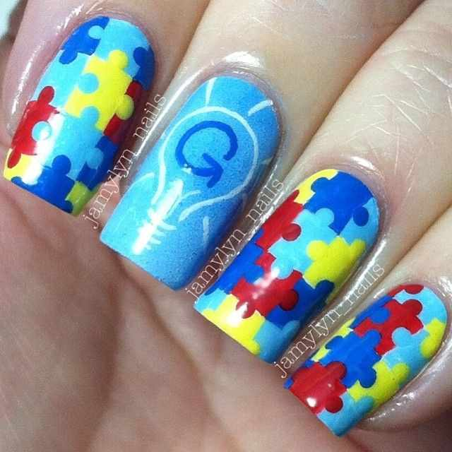 manicure puzzle маникюр пазлы