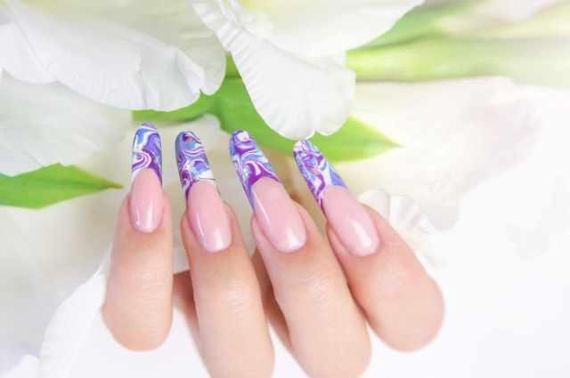 модный дизайн ногтей от чемпионов водный design of extension of long nails