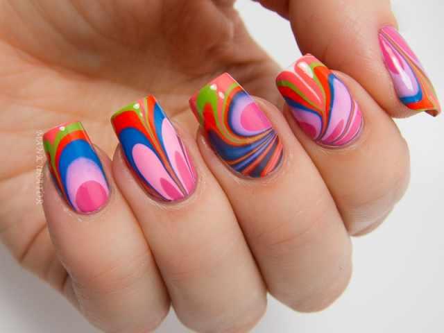 trendy nail design 2015 водяной