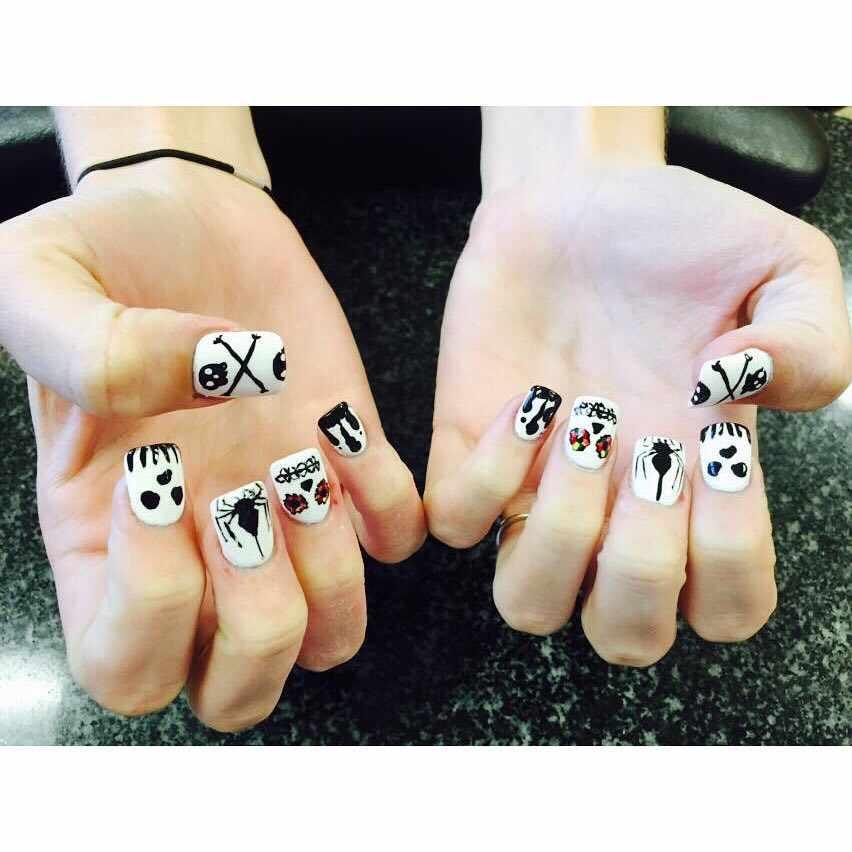 маникюр с пандой на ногтях дизайн 2018