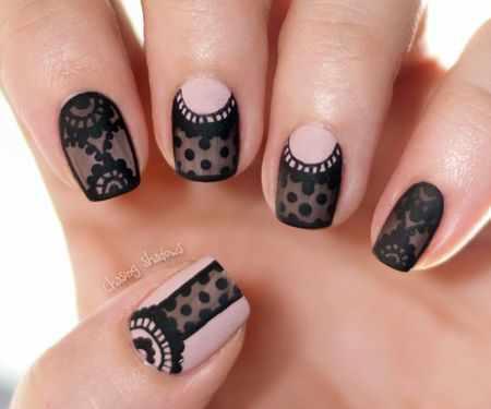 ногти вуаль колготки nail design lace