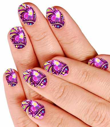 unusual nail design 2015 photos news oval flowers