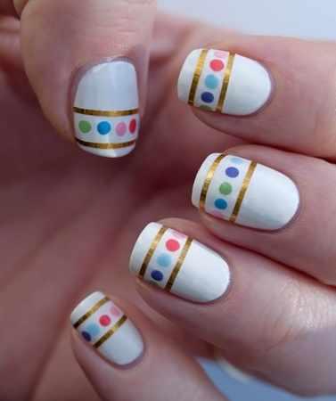 trendy nail design 2015 праздник