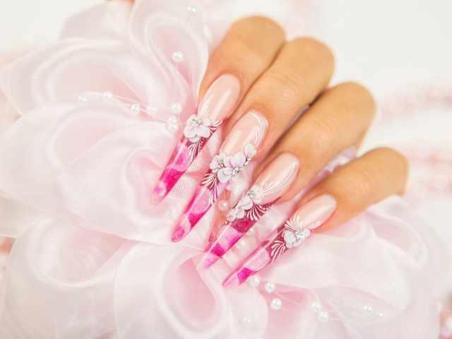модный дизайн ногтей от чемпионов розовые design of extension of long nails