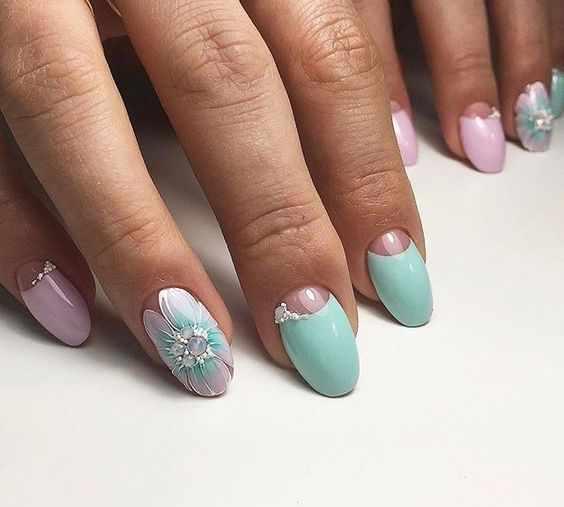 дизайн ногтей лунный маникюр 2017