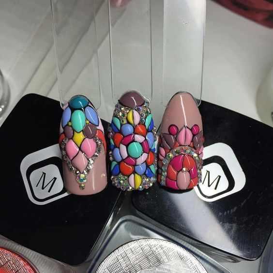 летний дизайн ногтей sweet bloom