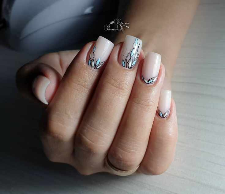 Маникюр на прямоугольные ногти