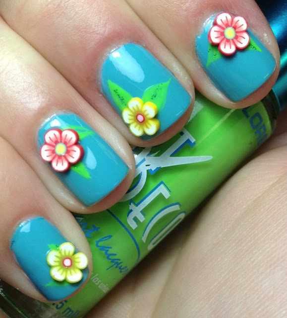 дизайн ногтей с фимо ромашки nail design Fruit