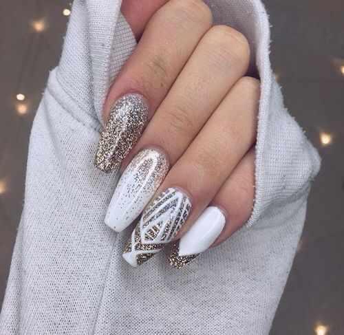 дизайн ногтей форма балерина