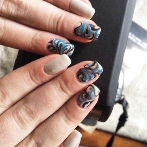 дизайн бархатных ногтей орнамент velvet nail design