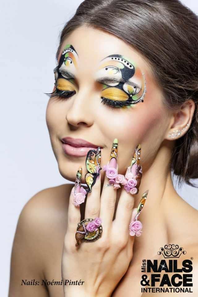 модный дизайн ногтей от чемпионов лицо design of extension of long nails
