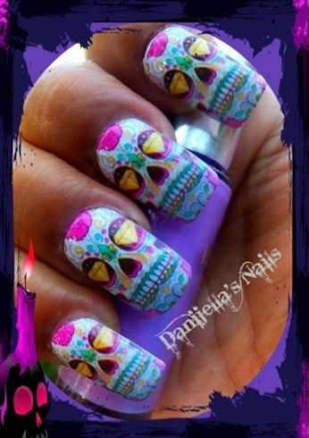 дизайн ногтей на праздник хэллоуин Halloween Nail Design