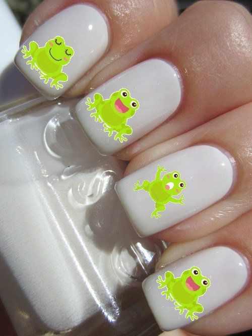 дизайн ногтей животные лягушка