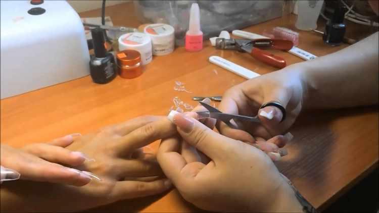 Наращивание ногтей на верхние формы акригель пошагово фото и видео