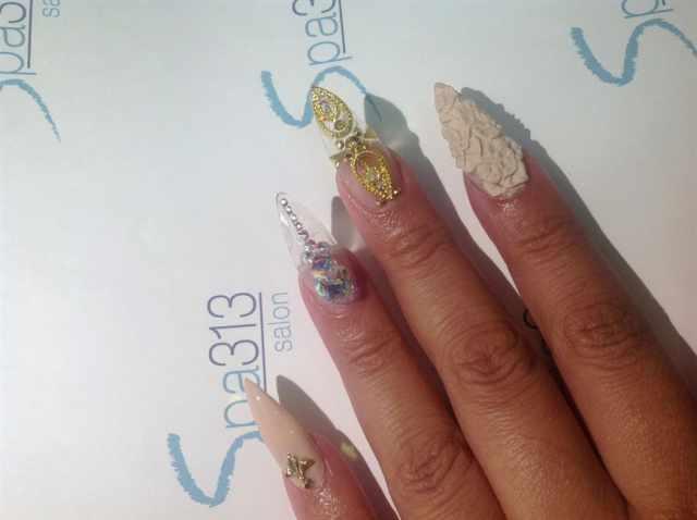 transparent nail design прозрачный маникюр 3Д лепка manicure with transparent tips