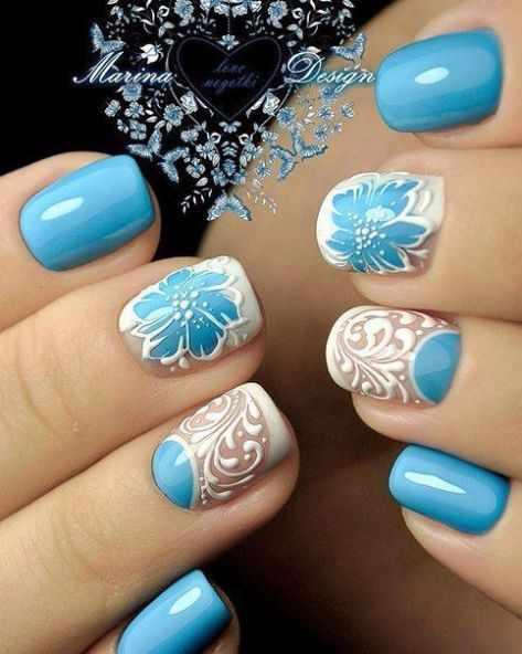 свадебный маникюр для невесты 2017 wedding design nails