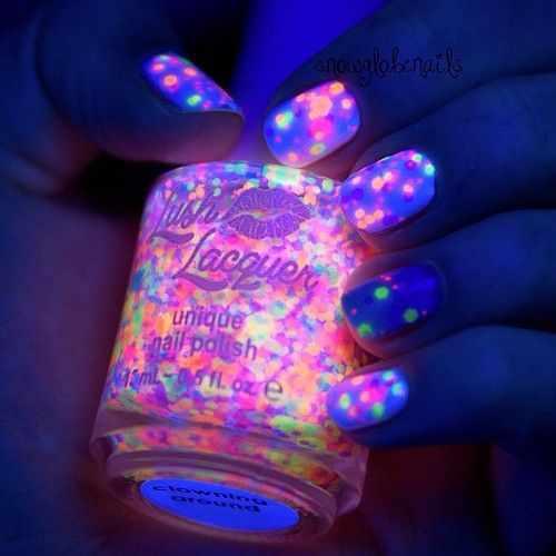 unusual nail design 2015 photos news neon paetki