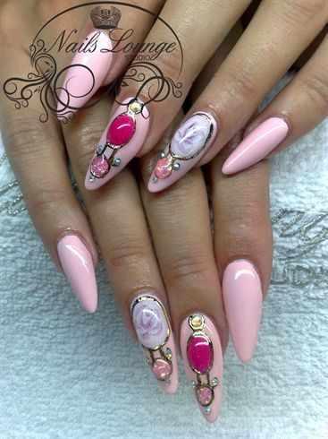 модный дизайн ногтей от чемпионов жидкий камень design of extension of long nails