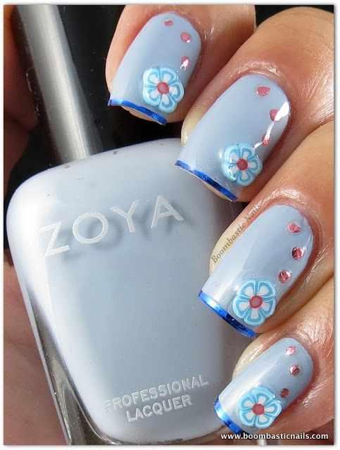 дизайн ногтей с фимо со стразами nail design Fruit