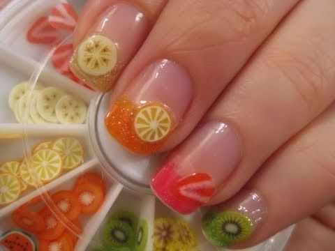 дизайн ногтей с фимо фрукты nail design Fruit