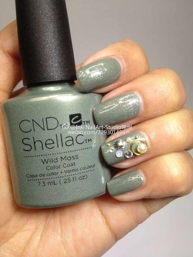 CND schellac дизайн wild moos