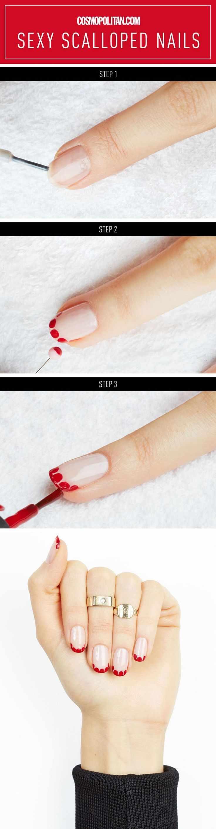 пошаговое фото простого домашнего маникюра step by step design nail