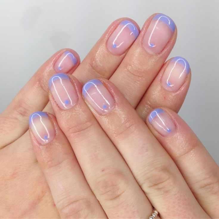 френч на коротких ногтях