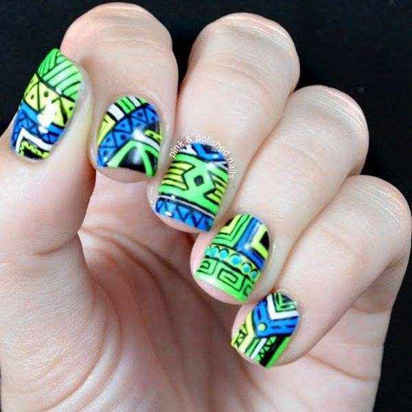 Этнический дизайн ногтей: 23 идеи маникюра 2020 года