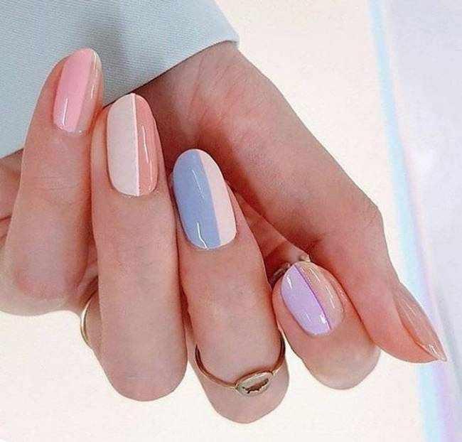 Пастельные ногти 2020-2021