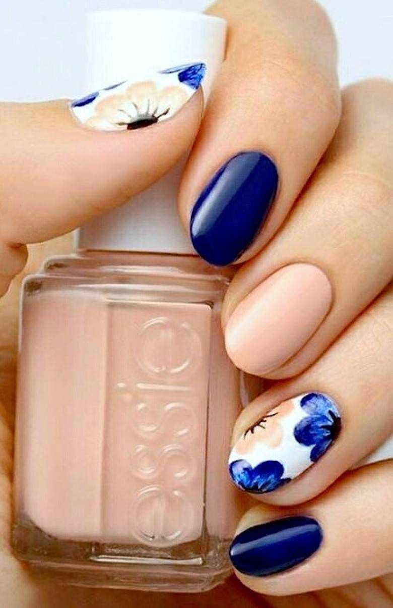 Маникюр цветов на ногтях