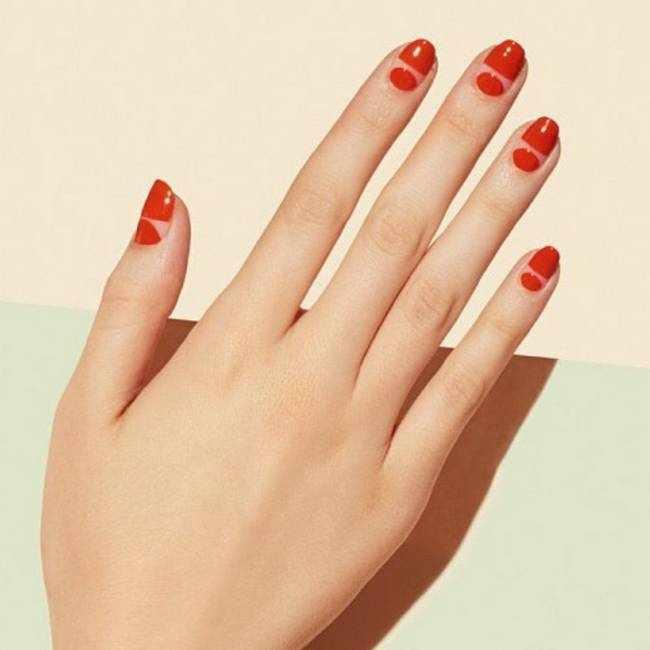 Красные ногти 2020-2021
