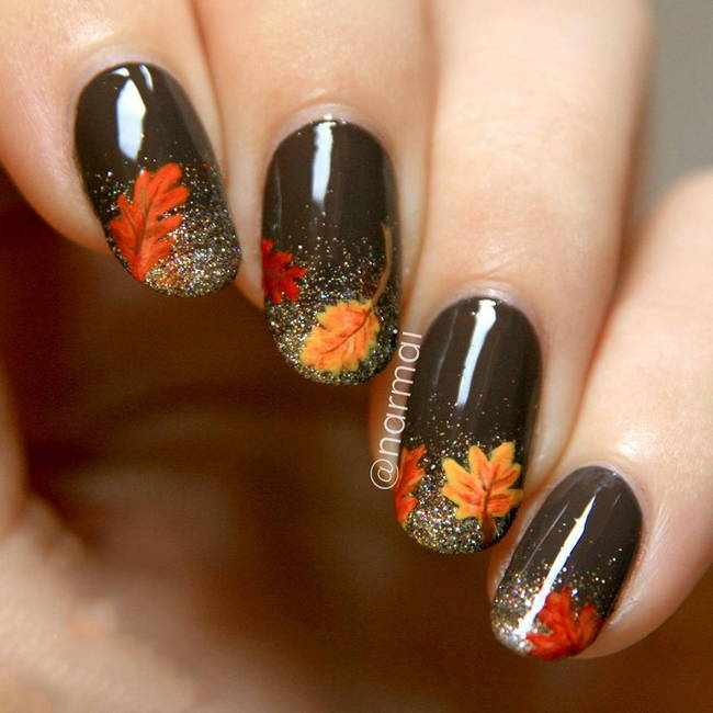 Осенний маникюр: 30 классных рисунков на ногтях