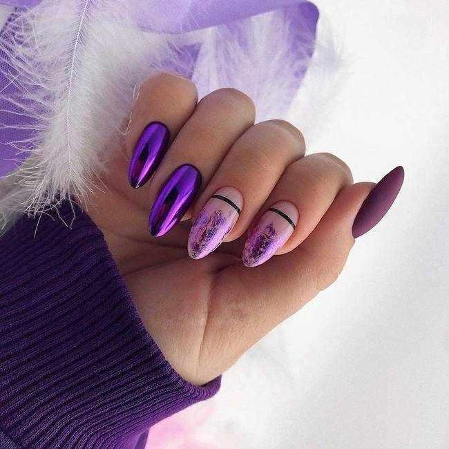 Дизайн ногтей с втиркой