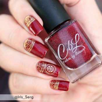 JamAdvice_com_ua_nail-art-red-with-gold_2