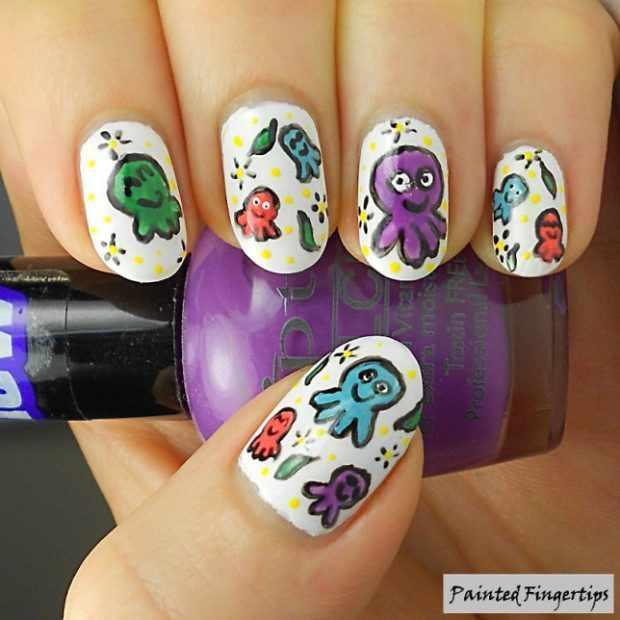 Самые красивые рисунки на ногтях: маникюр с животными