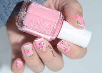 JamAdvice_com_ua_Fruits-and-sweets-totally-hip-summer-nail-designs-pink-polish-base-watermelon-accent