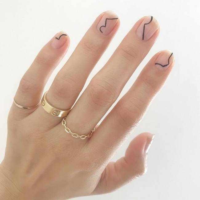 Дизайн ногтей в стиле минимализм