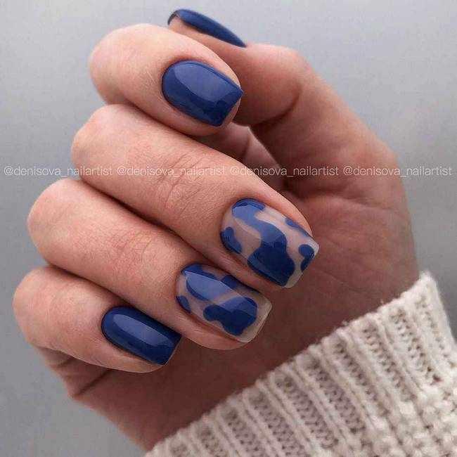 Синие ногти 2020-2021