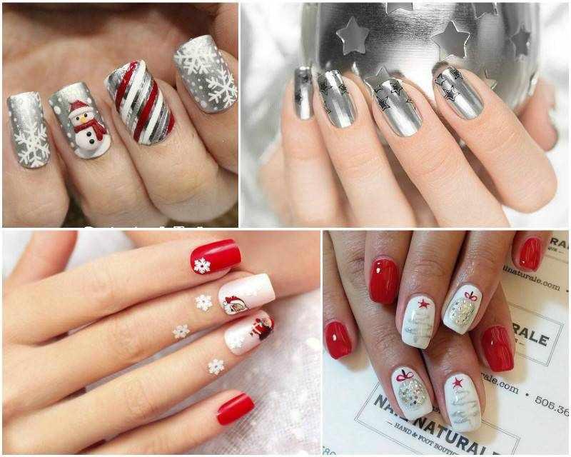 Новогодний дизайн ногтей: 120 фото лучших примеров
