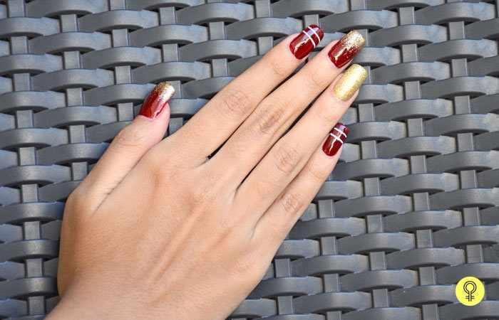 21 маникюр: простые рисунки на ногтях