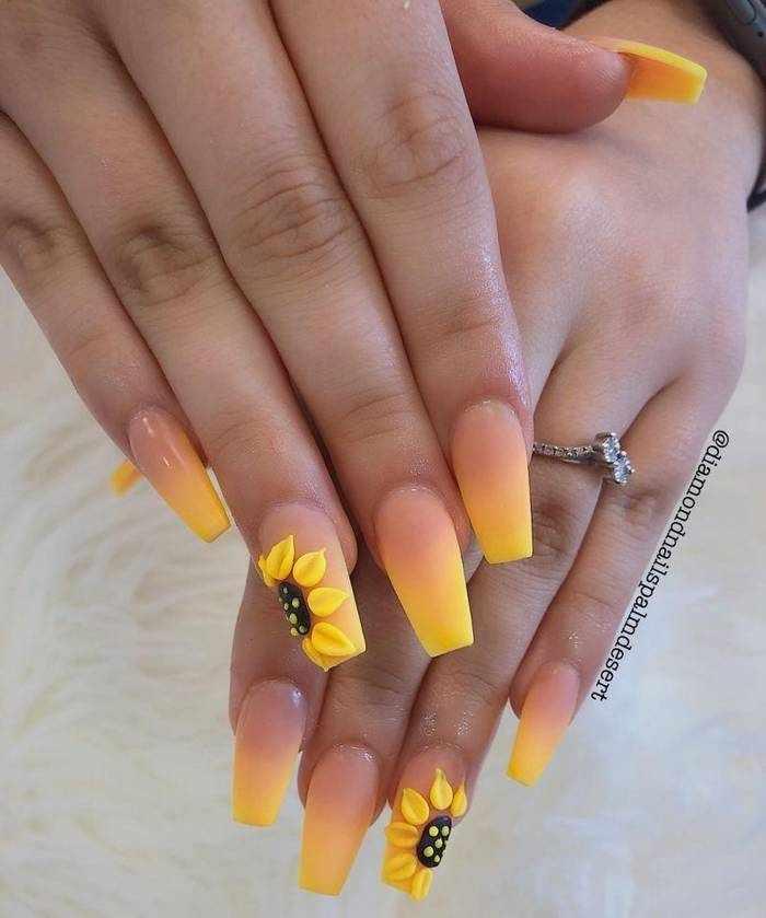 Омбре на матовых ногтях