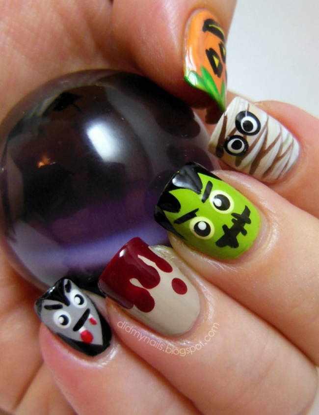 Маникюр для Хэллоуина: 40 эксклюзивных идей