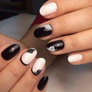 JamAdvice_com_ua_black_and_white_manicure_for_short_nails_3
