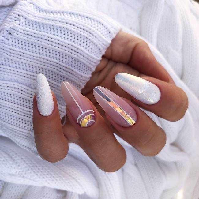 Белые ногти 2020-2021