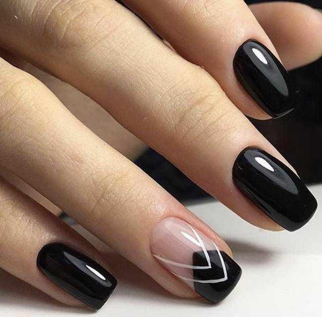 Черные ногти 2020-2021