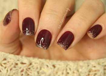 Best 25+ Burgundy Nail Designs Ideas On Pinterest | Acrylic Nails regarding Burgundy Glitter Nails